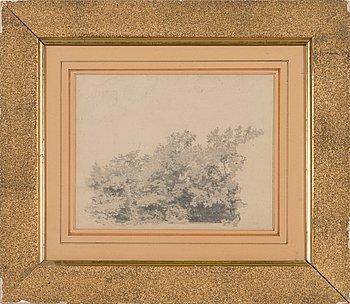 Ivan Ivanovitch Shishkin, drawing, signed and dated 1873.