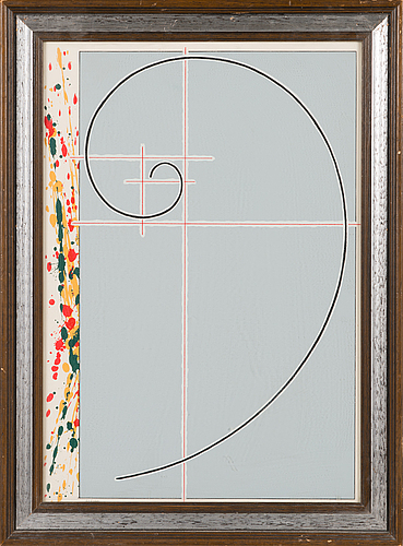 Juhana blomstedt, silkscreen, signed and dated -78, numbered 61/100.