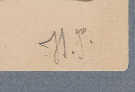 Ilja jefimovitj repin, drawing, signed.