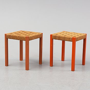 A pair of stools for Gemla, second half of the 20th-century.