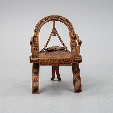 A late 19th century russian folk art chair.