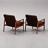 A pair of armchairs from ulferts, tibro, 1950's/60's.