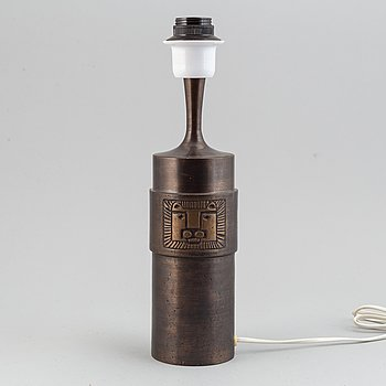 Stig Blomberg, a bronze table lamp, second half of the 20th century.