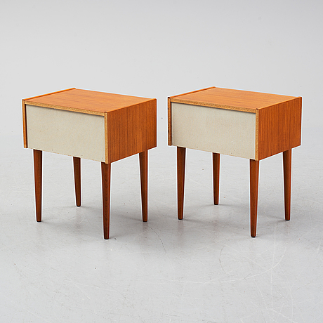 A pair of bedside tables from the second half of the 20th century.