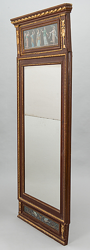 A late gustavian style mirror from around the turn of the 19th century.
