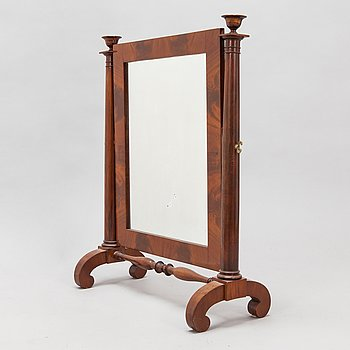 A table mirror, around 1820s-30s.