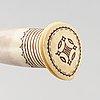 Tore sunna, a sami reindeer horn knife, signed thore sunna.