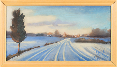 Timo jakola, pastel, signed and dated 2020.