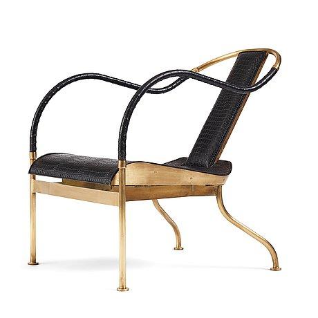 "Mats theselius, an ""el rey"" armchair, ed. 317/360, for källemo, sweden post 1999."