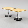 A pair of coffee tables from lammhults, 1990's.