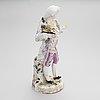 Figuriini, meissen, posliini, saksa, 1800-luku.