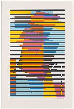 Sam Vanni, serigrafi, signerad och daterad -69, numrerad 51/100.