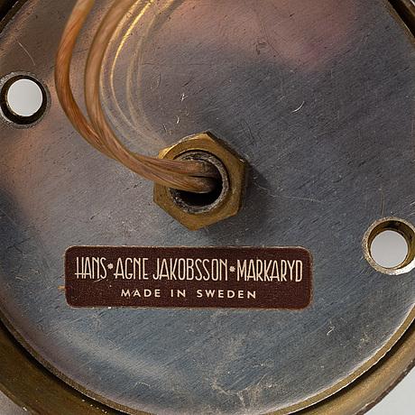 Hans-agne jakobsson, a pair of wall lights, markaryd.