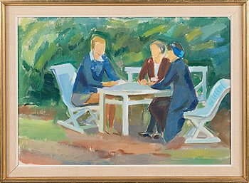 Paul Grönholm, oil on canvasboard, unsigned.