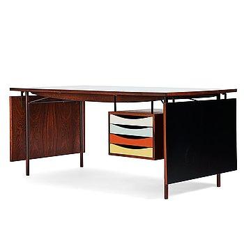 """409. Finn Juhl, a """"BO 69"""" desk, Bovirke, Denmark 1950-1960's. Designed in 1953."""