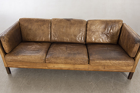 Arne norell, a cromwell leather sofa 1980.
