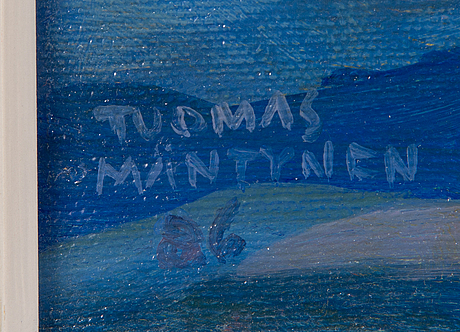 Tuomas mäntynen, oil on canvas, signed and dated -86.