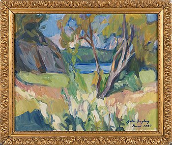 Gabriel Engberg, oil on canvas, signed and dated-25.
