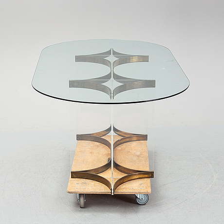 A dining table probably by charles hollis jones, usa, 1970's.