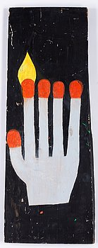 Marcus Mårtenson, pastel stick on wood signed and dated 2008.