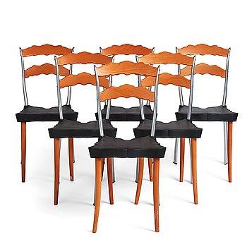 "86. Borek Sipek, 6 ""Sedlak"" chairs for Vitra, post 1992."