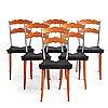 "Borek sipek, 6 ""sedlak"" chairs for vitra, post 1992."