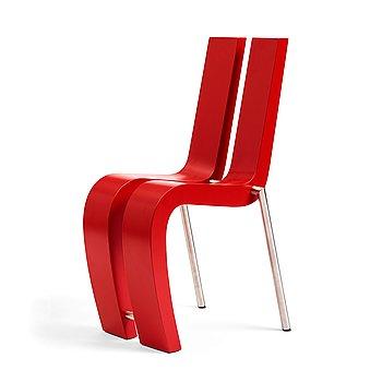 """42. Sigvard Håkansson, a """"2+1"""" chair, ed. 25/25, Sigvard Design AB Linköping, Sweden 2003."""
