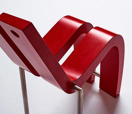 """Sigvard håkansson, a """"2+1"""" chair, ed. 25/25, sigvard design ab linköping, sweden 2003."""