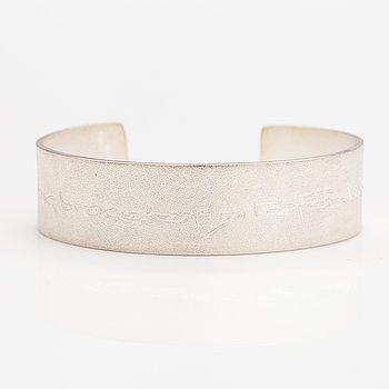 "Björn Weckström, A sterling silver bracelet ""Lappland silver Informa"". Lapponia 2010."