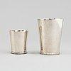 Wiwen nilsson, two silver beakers, lund 1951-53.