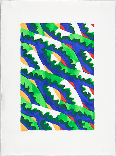 Lennart rodhe, silkscreen in colours, 1976, signed 66/75.