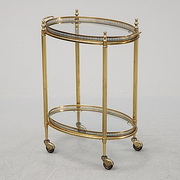 A drinks trolley, late 20th Century.