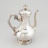Kaffekanna, silver, stockholm, 1800-talets andra hälft.
