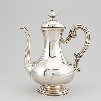 A 19th century Swedish silver coffee pot.