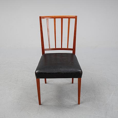 Eight mahogny chairs, mid 20th century.