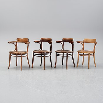 Four chairs, early 1900's.