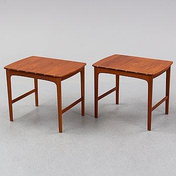 Yngvar Sandström, a pair of teak side tables, AB Seffle möbelfabrik, 1950's/60's.