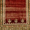 A rug, an antique anatolia, probably gördes (ghiordes), a prayer rug, ca ca 188 x 124 cm.