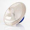 Pekka piekäinen, a sterling silver and enamel bowl, marked pp, platinoro, turku 2004.