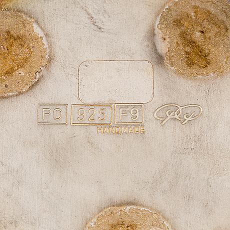 """Pekka piekäinen, a sterling silver vase """"calla"""", marked pp, platinoro, turku 2007."""
