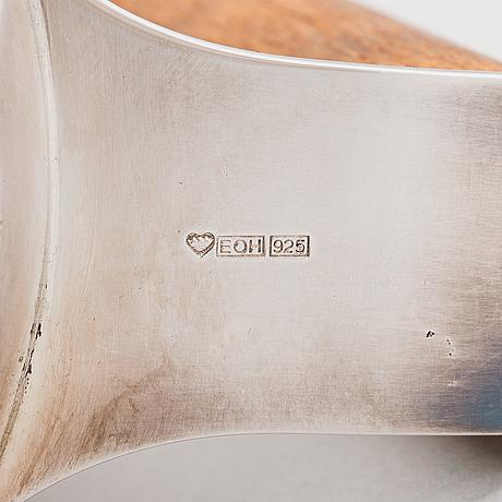 Pekka piekäinen, teekannu ja sokerikko, stelringhopeaa ja puuta. platinoro, turku.
