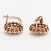 Korvakorupari, 14k kultaa, timantteja n. 1.08 ct yht. venäjä.