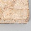 Stig blomberg, relief, terracotta, signed.