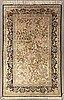 An old silk ghom 205x135 cm.