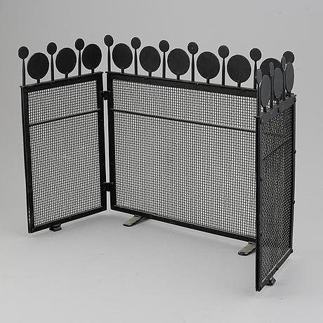 Bertil vallien, an iron fire screen, boda smide, late 20th century.