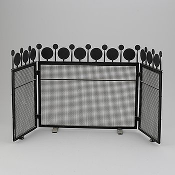 Bertil Vallien, an iron fire screen, Boda Smide, late 20th Century.