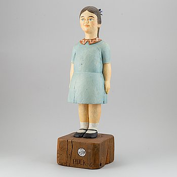 Lars Huck Hultgren, sculpture, painted wood, signed and dated -65.