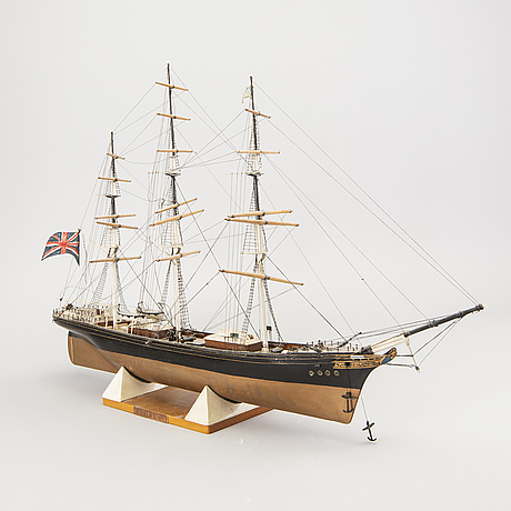 "A model ship dated 1957 ""cutty sark""."