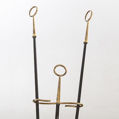 Gunnar ander, brasställ, 3 delar, ystad metall.
