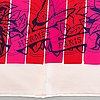 "Hermès, scarf, ""jungle love rainbow red""."